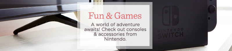 Fun & Games. A world of adventure awaits! Check out consoles & accessories from Nintendo.
