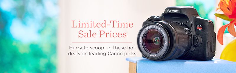 Limited-Time Sale Prices. Hurry to scoop up these hot deals on leading Canon picks