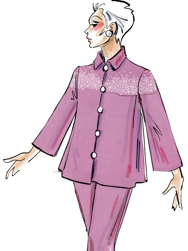Embroidered 3/4 Sleeve Linen Jacket