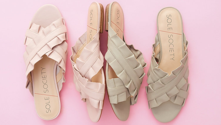 Slide Sandals. Slip on these breezy styles & get going