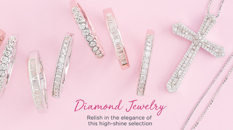Diamond Jewelry. Relish in the elegance of this high-shine selection