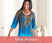 Susan Graver Printed Peasant Top