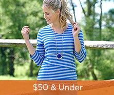 Denim & Co.(R) Striped Knit 3/4-Sleeve V-Neck Top
