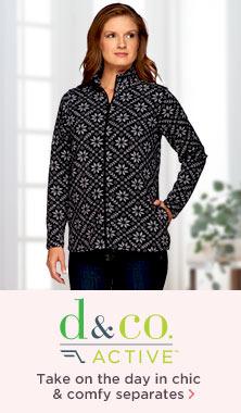 Denim & Co.(R) Active Nordic-Printed Fleece Jacket