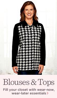 Denim & Co.(R) Houndstooth-Printed Fleece Big Shirt