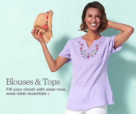 Denim & Co.(R) Short-Sleeve Embroidered Gauze Peasant Top