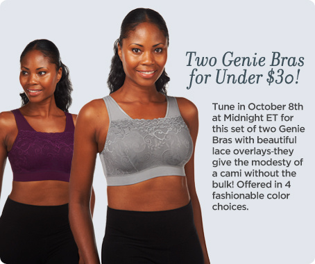 Genie Bra Set of Two Lace Overlay Milana Bras with Modesty Pads