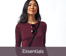 H by Halston Essentials Long-Sleeve Crew-Neck Knit Tunic