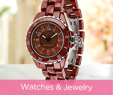 Isaac Mizrahi Live!(TM) Ceramic & Stainless Steel Watch