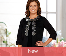Joan Rivers Geometric Embellished Jacket