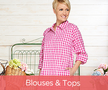 Joan Rivers Gingham Boyfriend Shirt