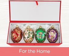 Joan Rivers Set of 4 Russian-Inspired Egg Ornaments