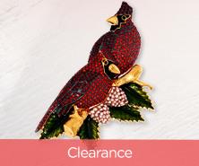 Joan Rivers Pave' Cardinals Pin