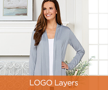 LOGO Layers by Lori Goldstein Open-Front Knit Cardigan