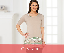 LOGO by Lori Goldstein Knit Top with Printed Trim