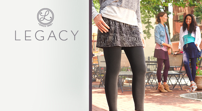 Legacy Knit Skirted Leggings with Pockets