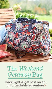 Vera Bradley Triple Compartment Travel Bag