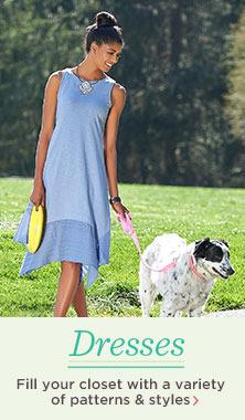 LOGO by Lori Goldstein Cotton Slub Tank Dress
