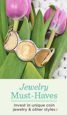Bronzo Italia(R) Bronze Lire Coin Cuff Bracelet