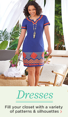 C. Wonder Split V-neck Short Sleeve Knit Dress with Embroidery