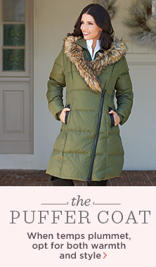 G.I.L.I.(TM) Puffer Coat with Faux-Fur Trim