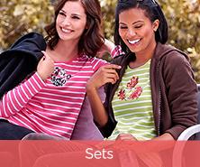 Quacker Factory Fleece Jacket & Striped Sequin Long-Sleeve T-Shirt Set