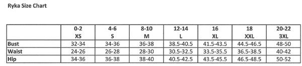 Ryka Size Chart