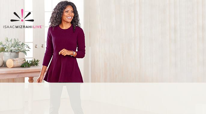 Cashmere Peplum Tunic Sweater