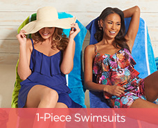 Fit 4 U V-Tiered Romper Swimsuit