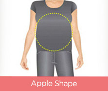 Apple-Shape Swimsuits
