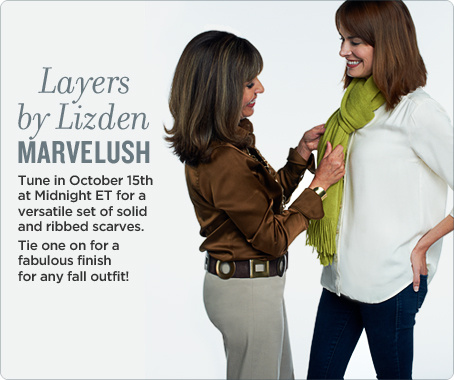 Layers by Lizden Marvelush Set of 2 Scarves in Ribbed & Solid Knit