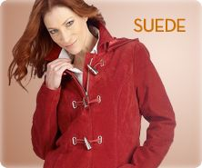 Bradley by Bradley Bayou washable-suede A-line coat with hood