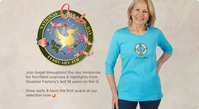 Quacker Factory 3/4-sleeve travel T-shirt