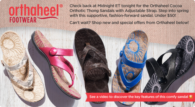 Orthaheel Cocoa Orthotic Thong Sandals w/ Adj. Strap