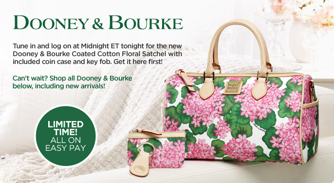Dooney & Bourke Coated Cotton Floral Satchel w/Accessories