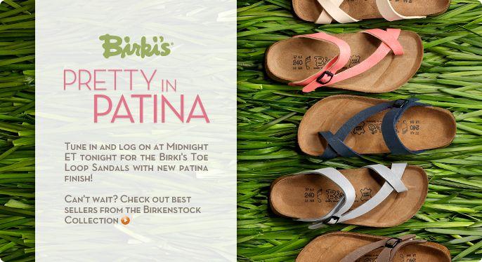 Birki's Patina Finish Toe Loop Sandals