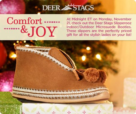 Deer Stags Slipperooz Indoor/Outdoor Microsuede Bootie