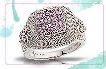 Judith Ripka Pink Sapphire Ring