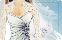 Designers' wedding gown sketches