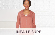 Linea Leisure by Louis Dell'Olio Snap-Front Hooded Tunic