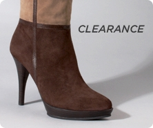 B. Makowsky suede boots with faux-fur trim