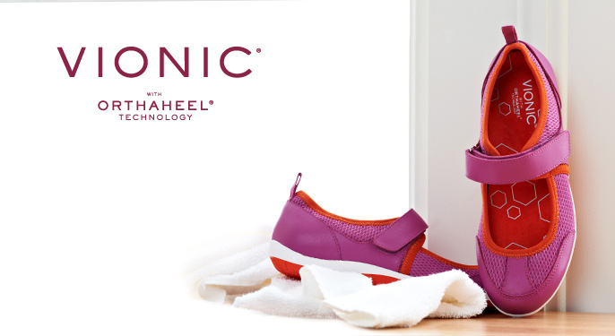 Vionic with Orthaheel Men's Orthotic Leather Boat Shoes
