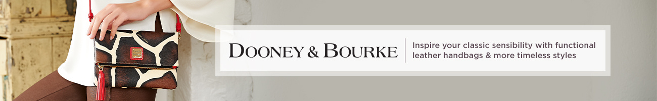 Dooney & Bourke Inspire your classic sensibility with functional leather handbags & more timeless styles