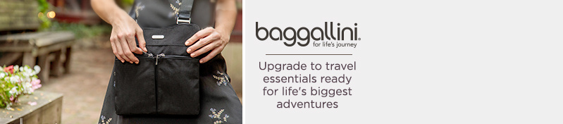 baggallini Upgrade to travel essentials ready for life's biggest adventures