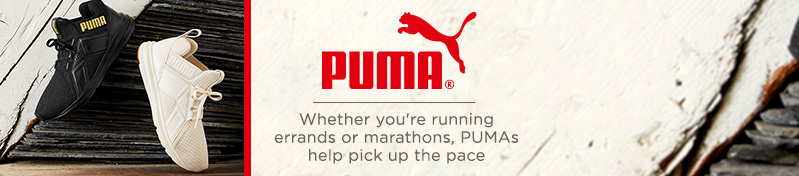 PUMA. Whether you're running errands or marathons, PUMAs help pick up the pace.