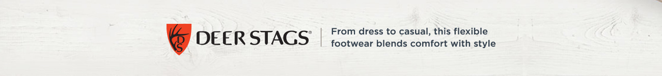 Deer Stags. From dress to casual, this flexible footwear blends comfort with style