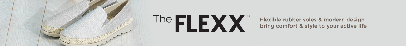 The FLEXX. Flexible rubber soles & modern design bring comfort & style to your active life.