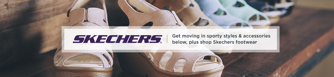 Skechers. Get moving in sporty styles & accessories below, plus shop Skechers footwear