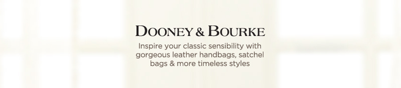 Dooney & Bourke, Inspire your classic sensibility with gorgeous leather handbags, satchel bags & more timeless styles