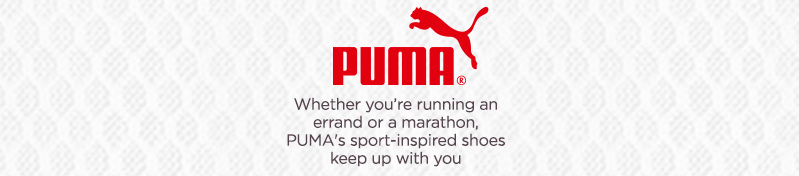 PUMA, Whether you're running an errand or a marathon, PUMA's sport-inspired shoes keep up with you